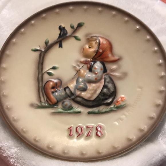 M.J.Hummel  Eighth annual plate 1978